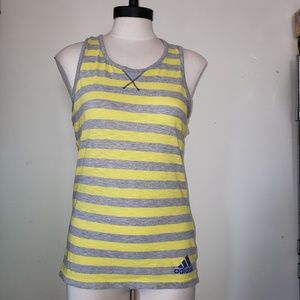 Adidas Racerback Striped Tank Top